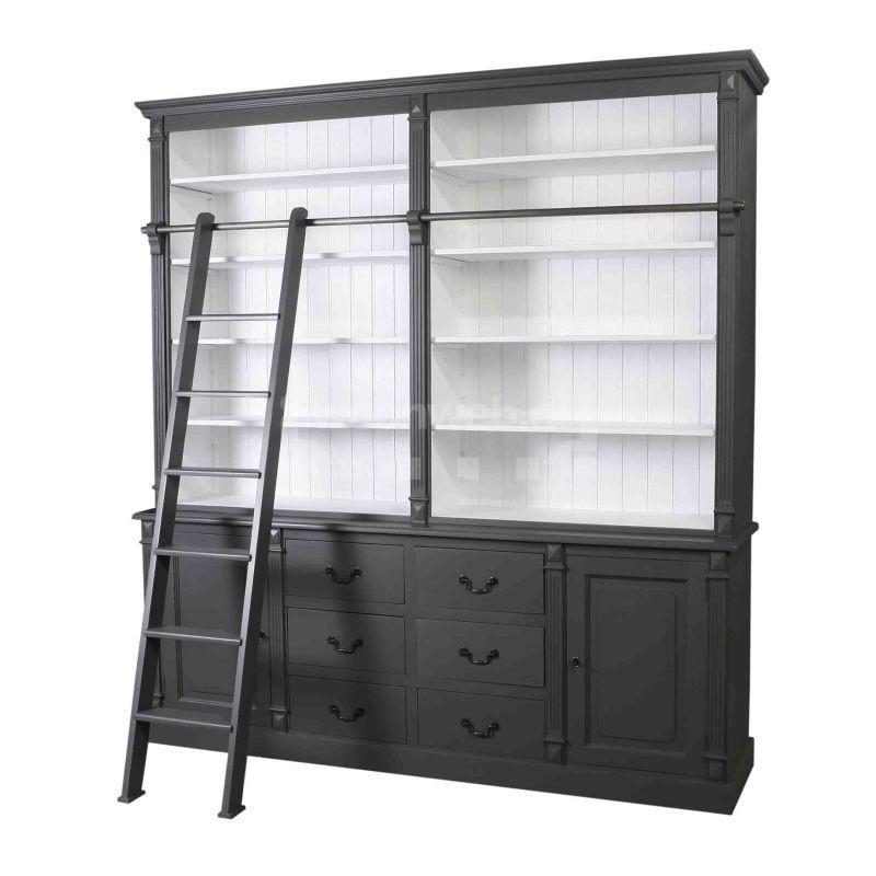 toulouse boekenkast met ladder 60743