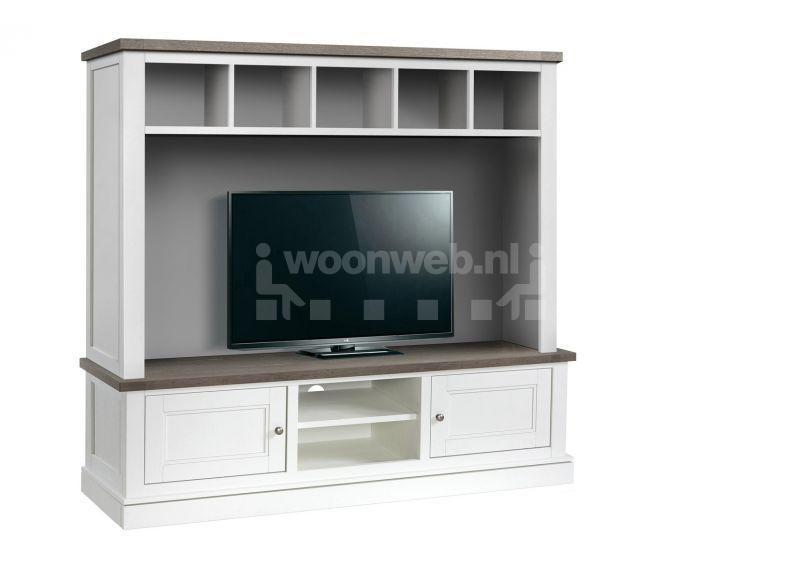 Woonkamer Tv Kast : Miles Lamulux TV-Kast Groot 2 Drs met 2 open Vak ...