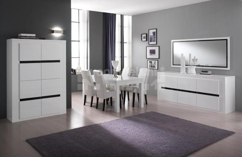 Top woonkamer tania white black with hoogglans woonkamer set for Mobilia fano
