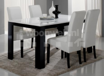 Pisa Eettafel Black White