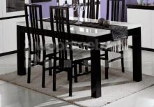 Roma Eettafel Black White
