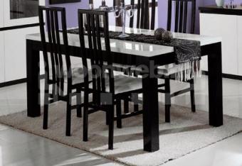 Roma Eettafel Black White